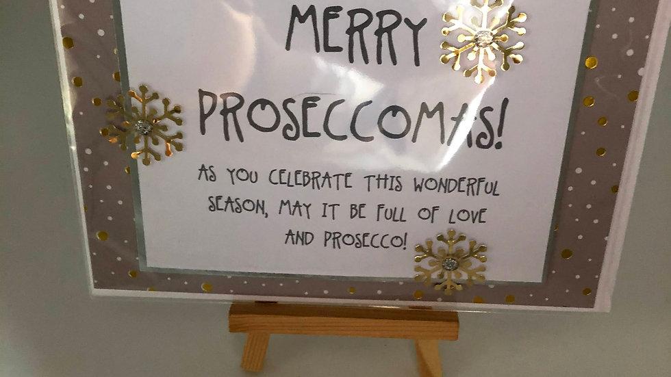 Merry Proseccomas card
