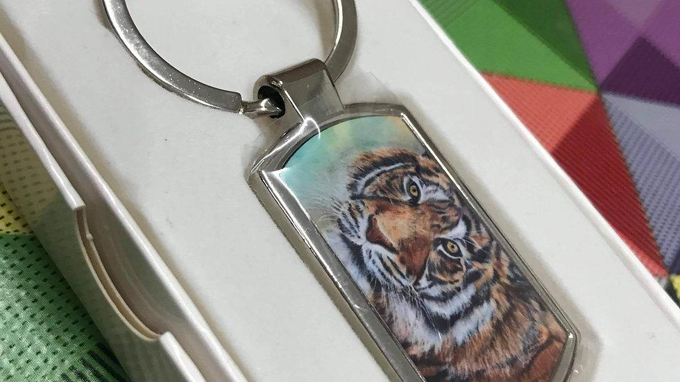 Animal print keyring