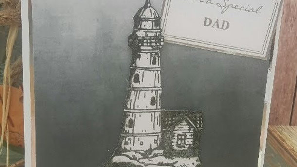 To A Special Dad Monotone Lighthouse