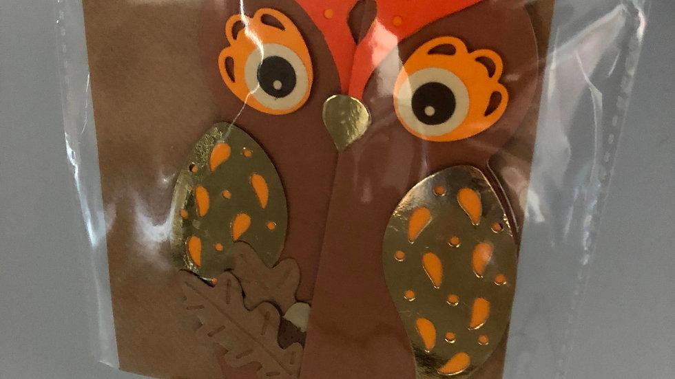 Handmade Owl Card