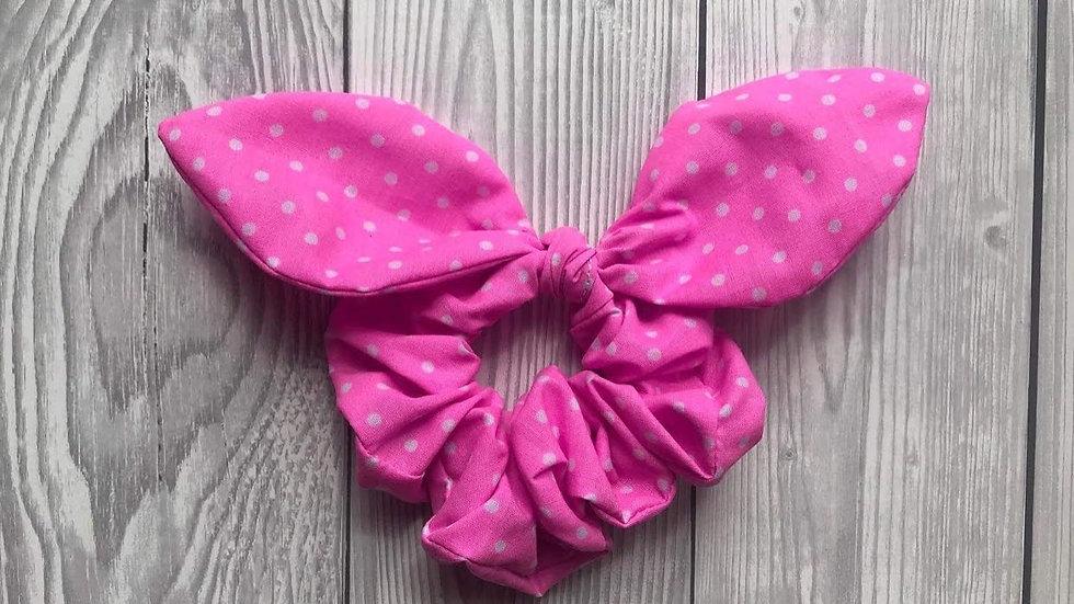 Pink hair scrunchie