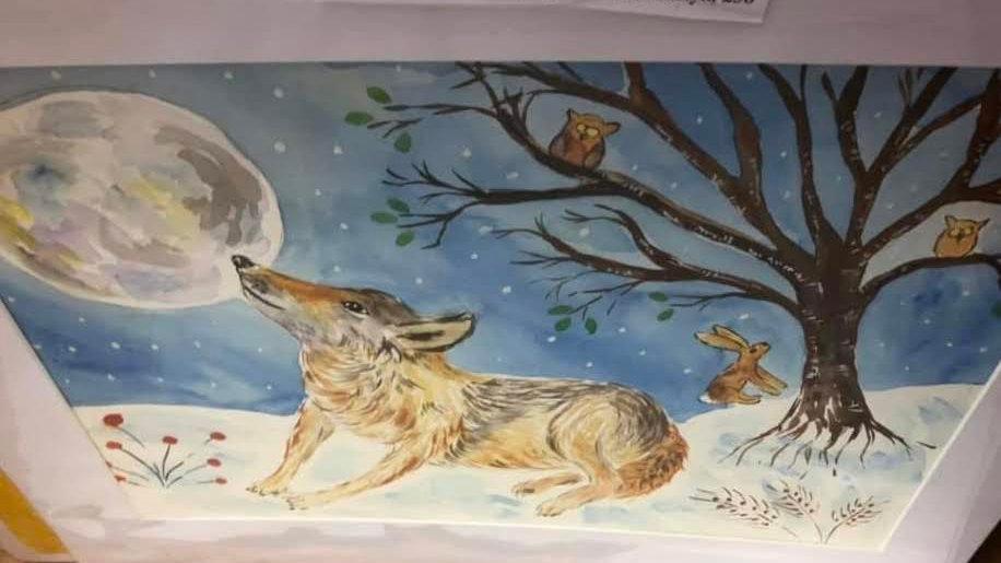 Snowy Scene Fox
