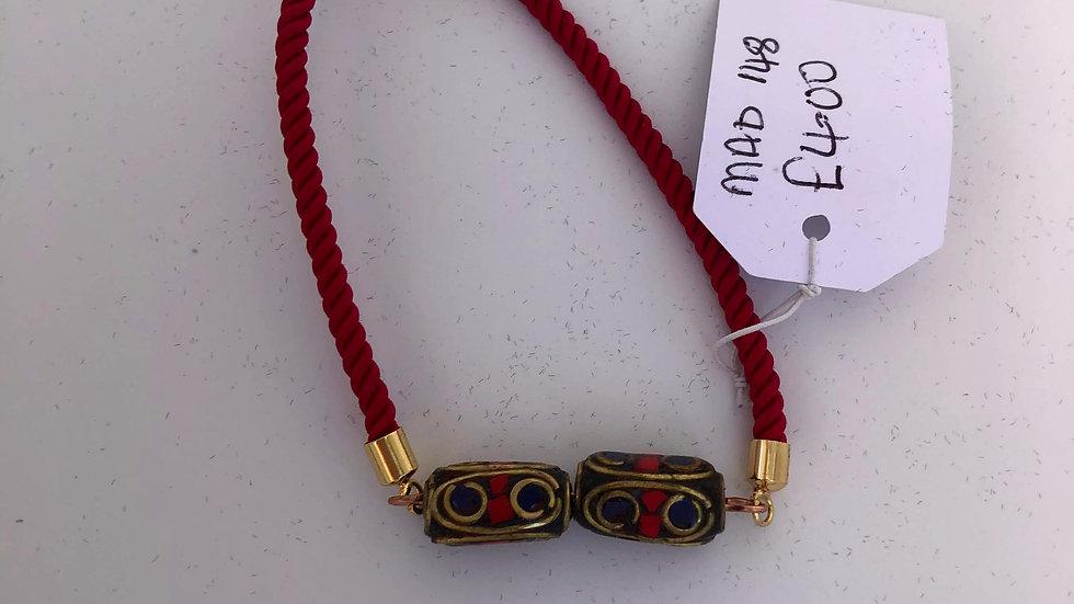 Rope tie bracelet