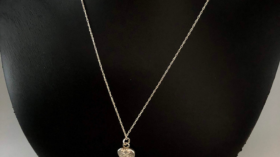 Sterling Silver Necklace with Small Heart Pendant
