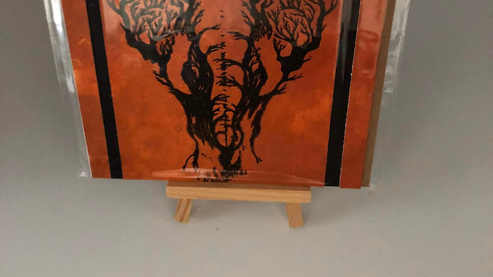 Screen Print Elephant Card