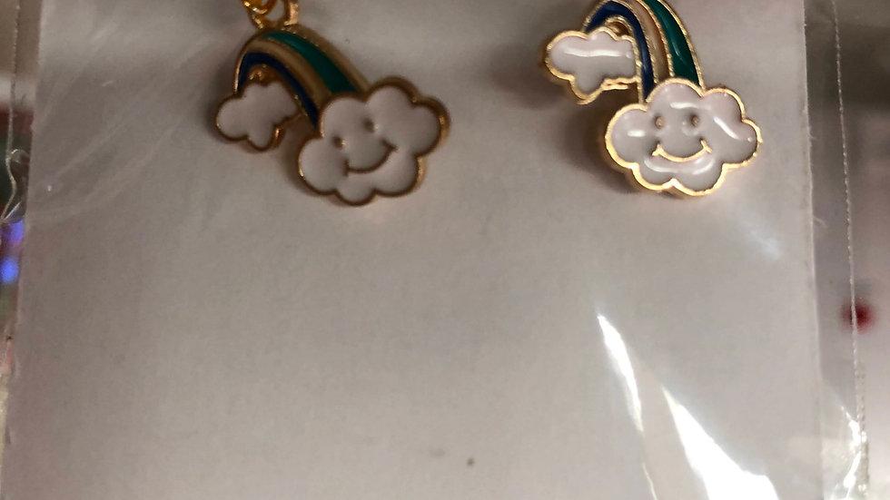 Cloud/rainbow earrings
