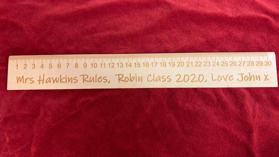 Teachers engraved Ruler