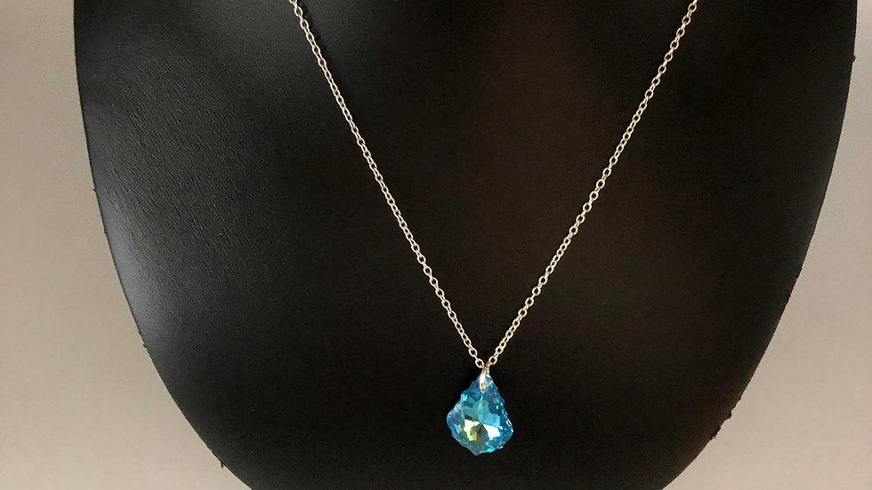 Silver Necklace/Dropdown Pendant
