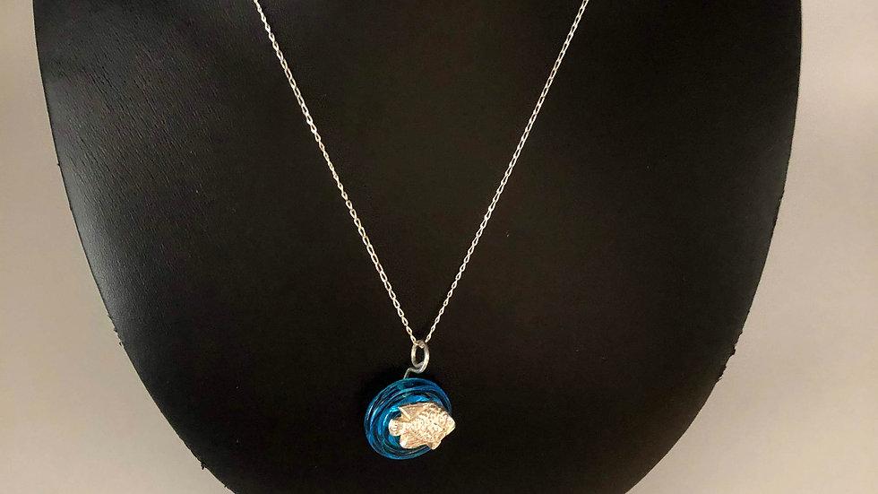 Sterling Silver Necklace/Dropdown Pendant