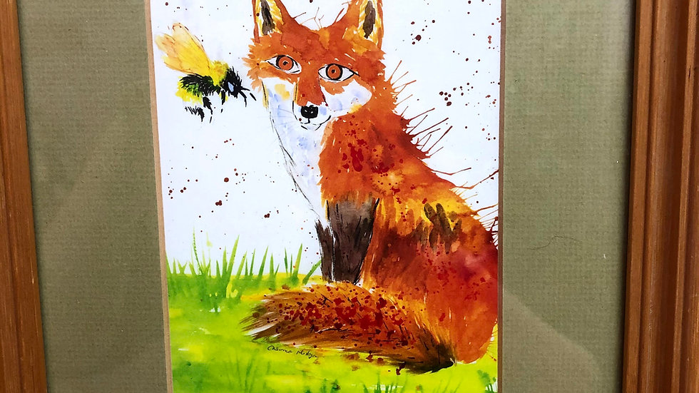 Fox & bee print