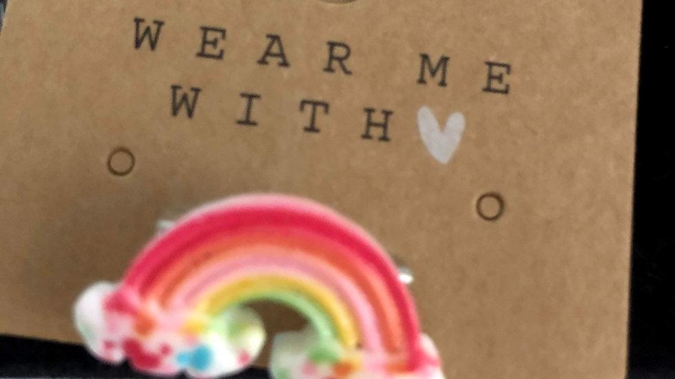 Rainbow Brooches