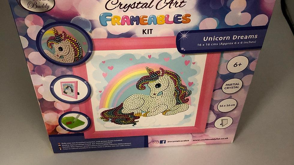 Unicorn Crystal Art