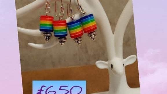 Sterling Silver Rainbow Earrings
