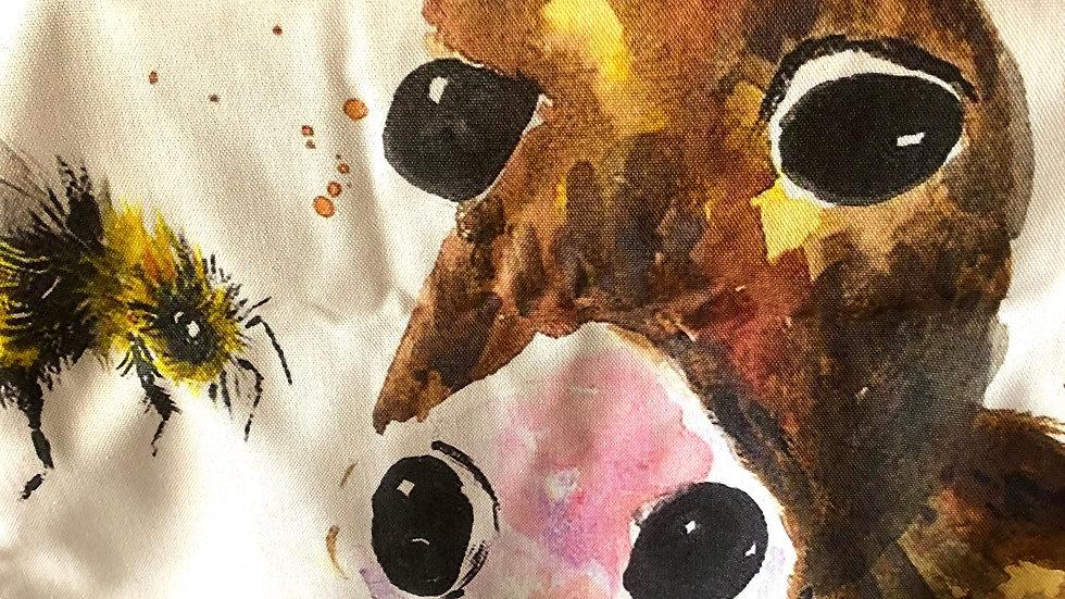 Tea Towel Colourful donkey and bee