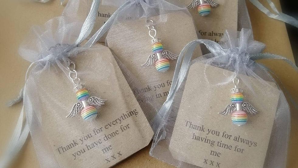 Angel Rainbow Keyring