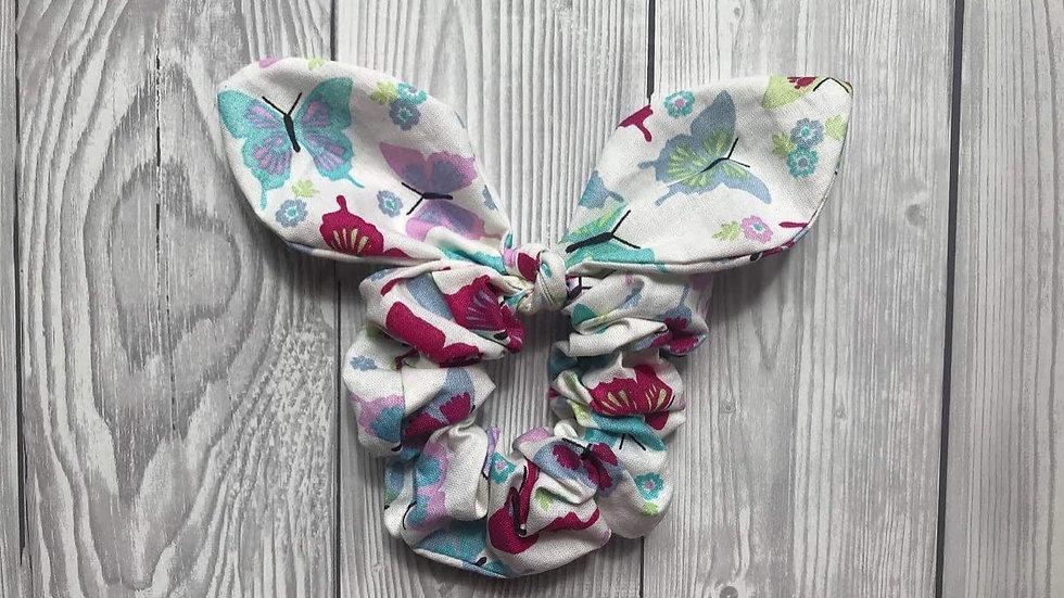 Butterfly hair scrunchie