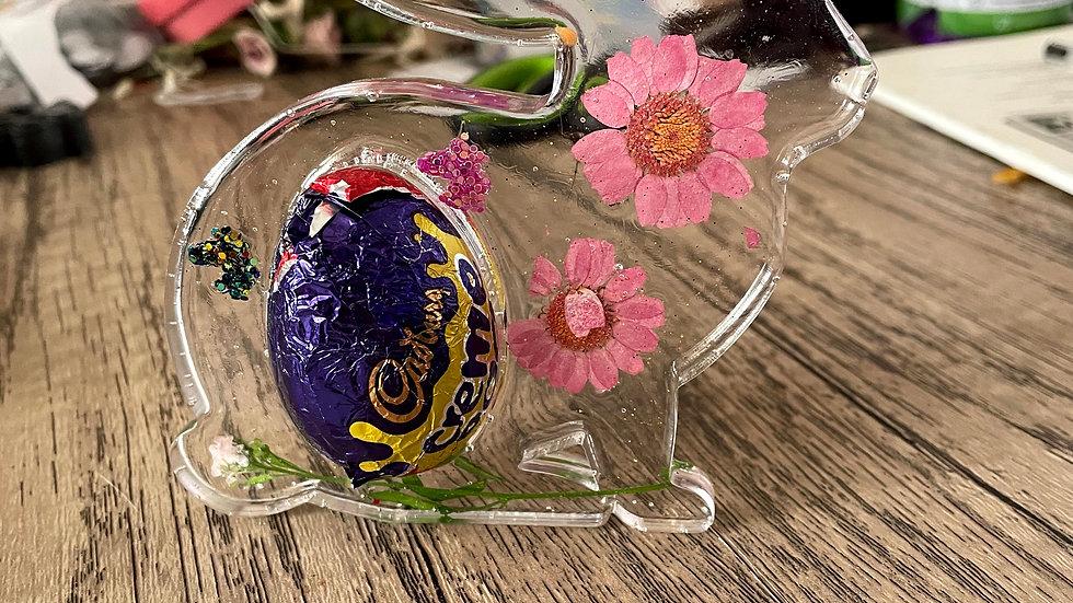 Rabbit creme egg holder