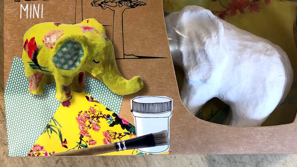 Elephant Decopatch Kit