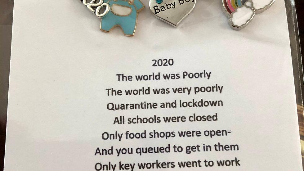 Baby Boy Pin Lockdown Keepsake