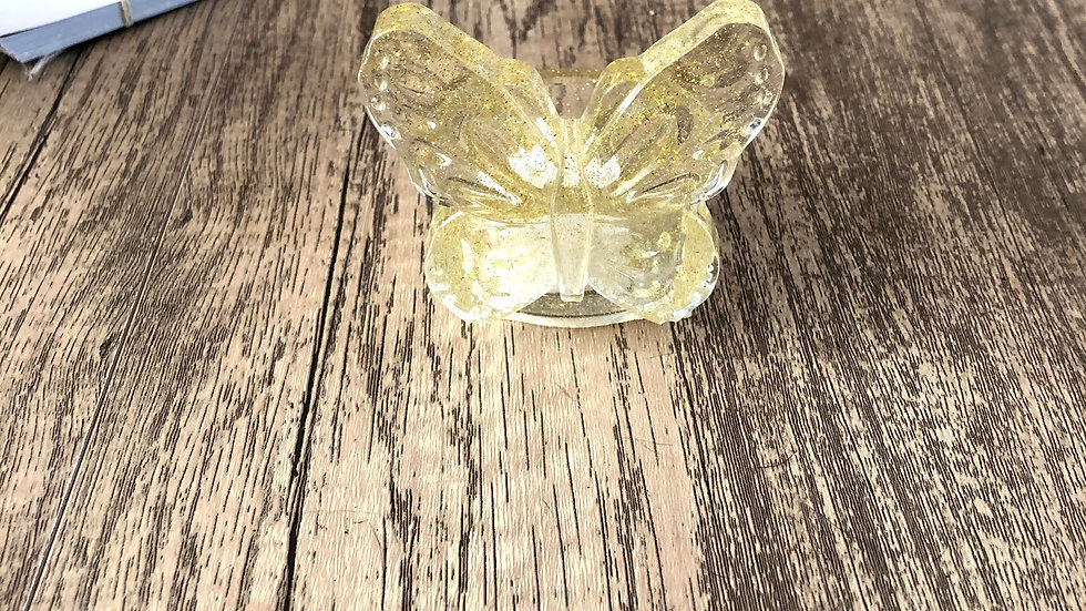 Resin Butterfly battery Tealight holder