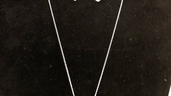 Silver Chain and Earring set