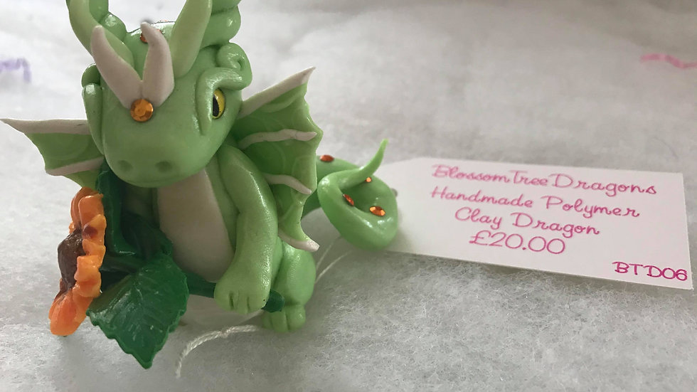Handmade Polymer Dragon