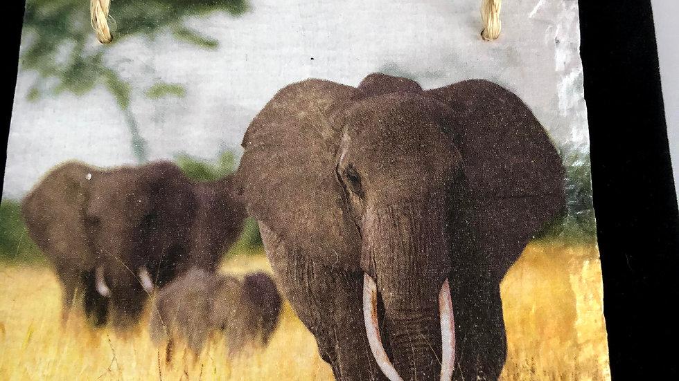 Slate Plaque - elephants