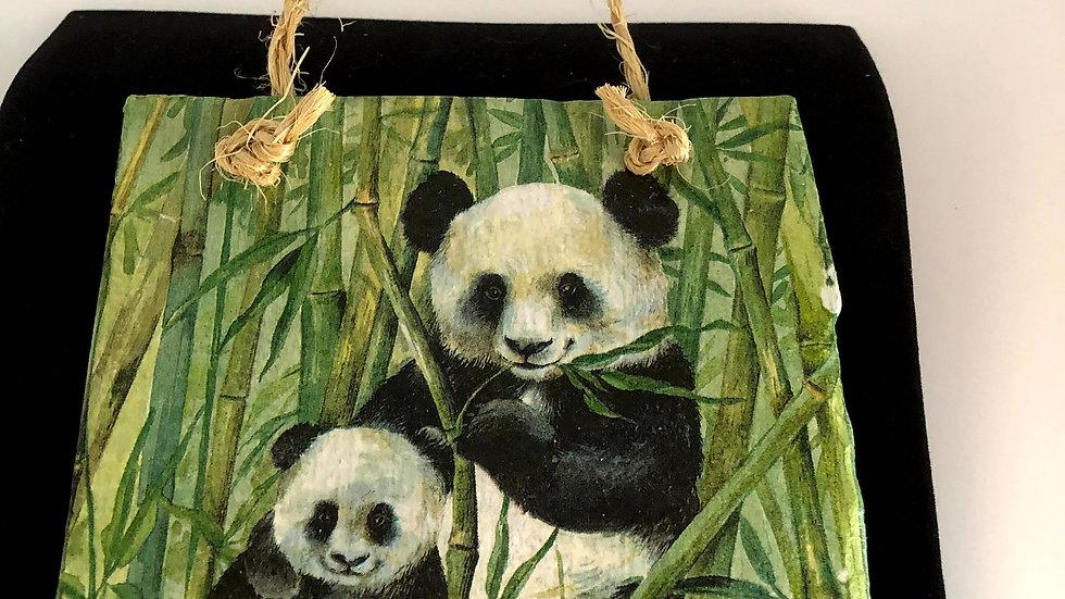 Slate Plaque -Pandas