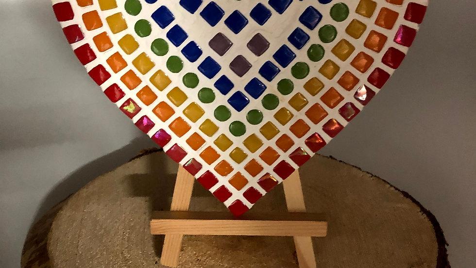 Mosaic Heart Shaped hanging