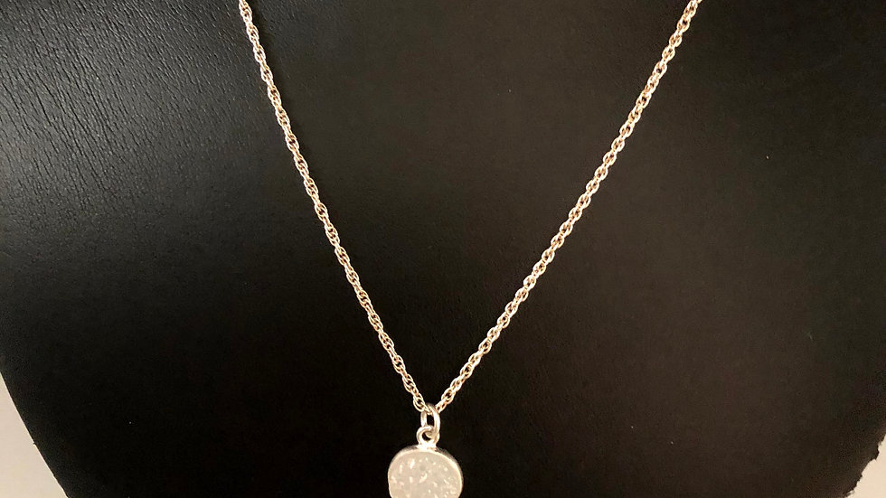 Sterling Silver Necklace/Dropdown Pendant