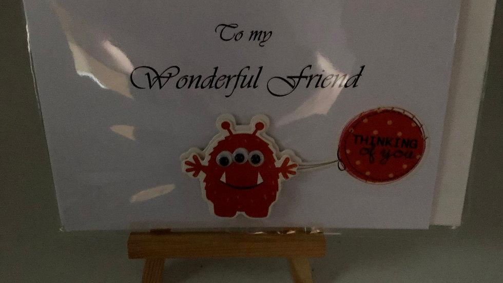 To my wonderful friend