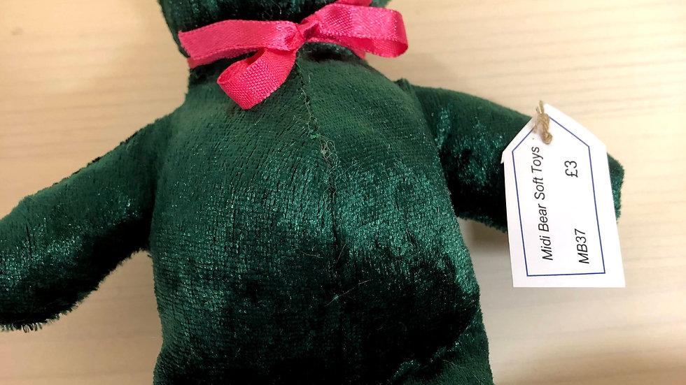 Midi Bear Soft Toys Teddy Green