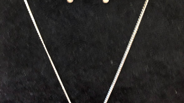Sterling Silver Chain and Earring Set