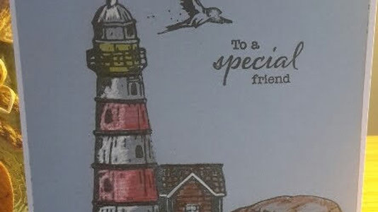 To A Special Friend Coloured Lighthouse