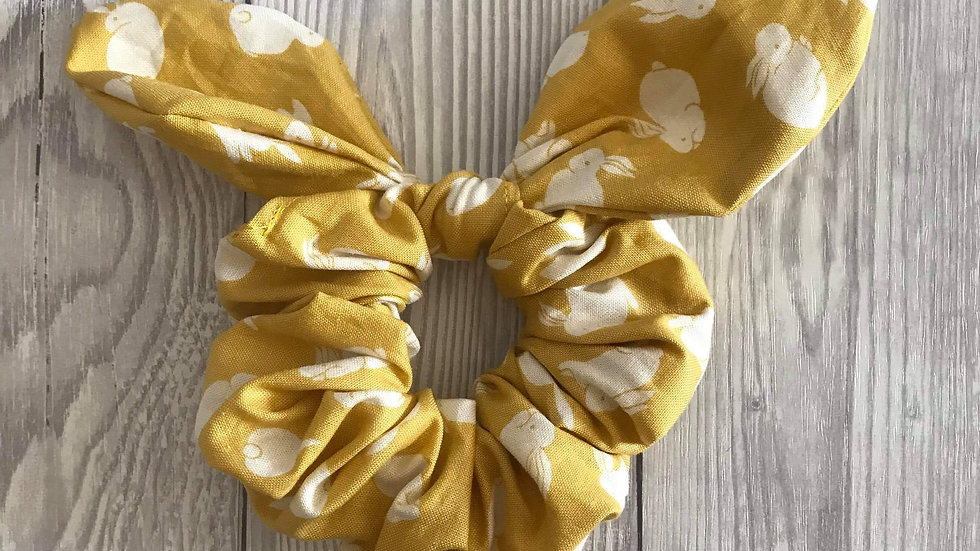 Yellow hair scrunchie