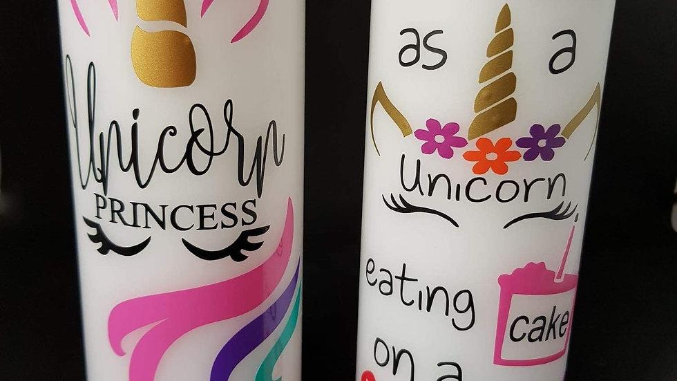Unicorn Pillar Candle