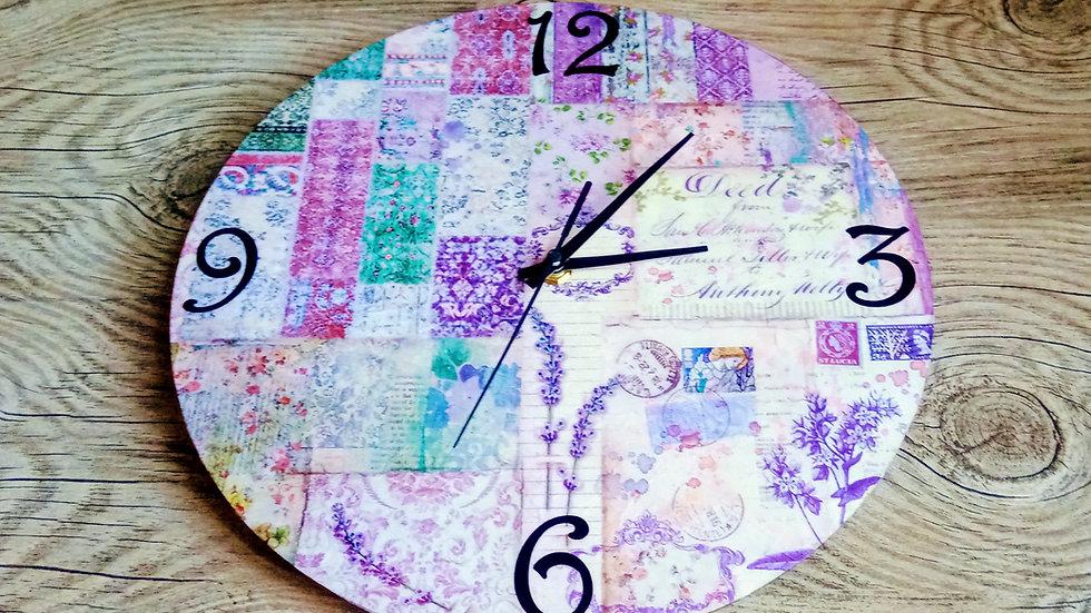Butterfly Clock Handmade