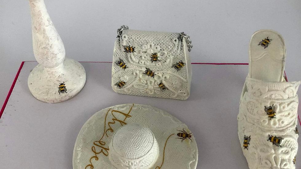 Bee Shoe/bag/hat/hat stand Set
