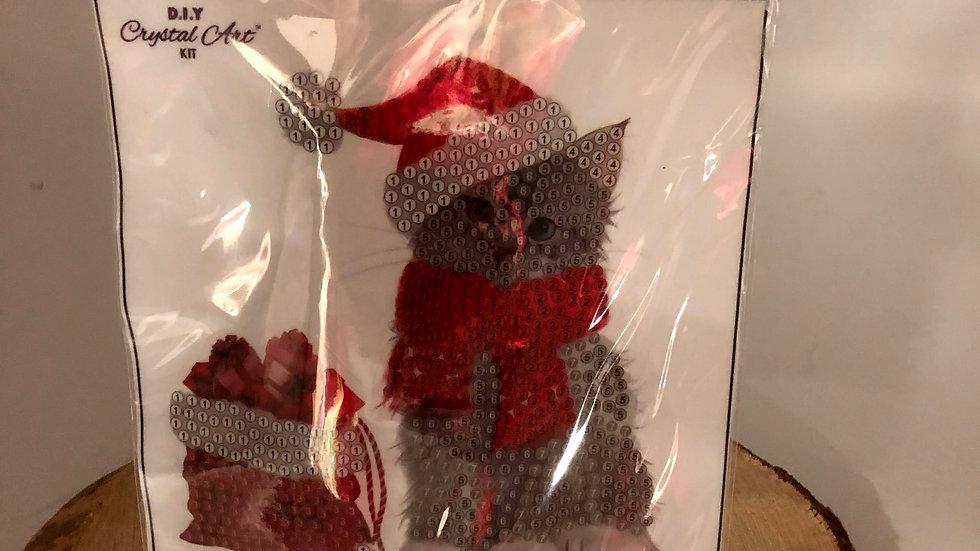 Christmas Cat Buddy Crystal Art