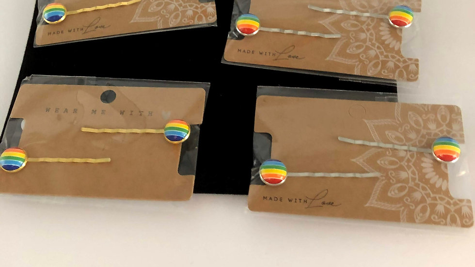 Rainbow Hairclips