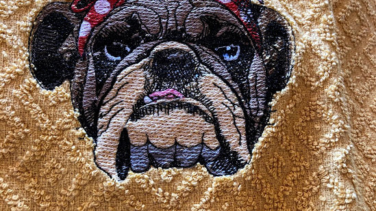 B002-310 Tea Towel French Bulldog