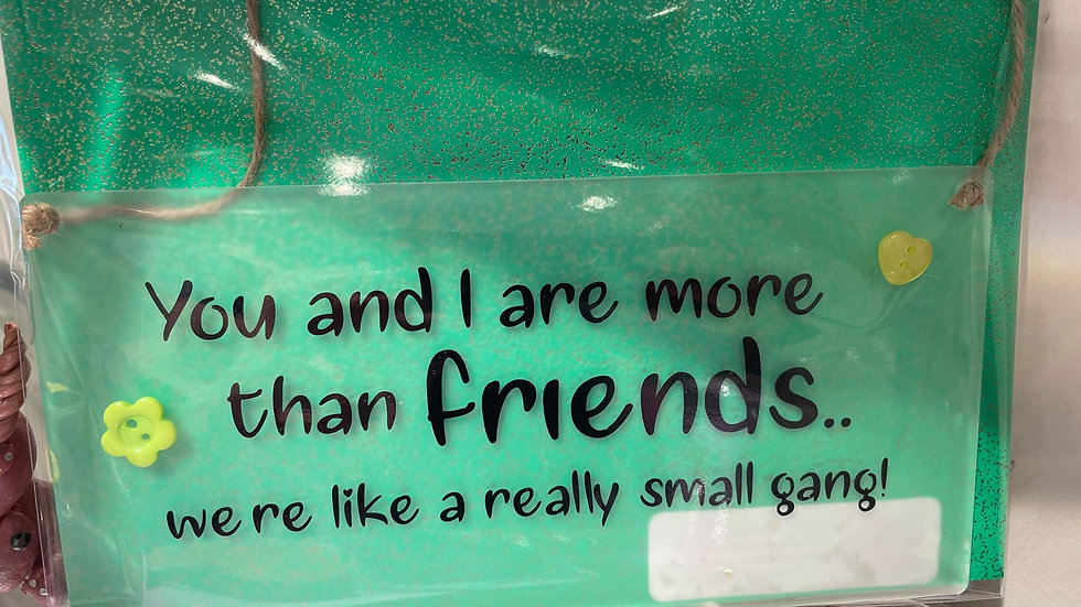 Hanging Sign You and I are more than Friends