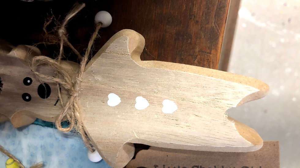Wooden Hanging Bear
