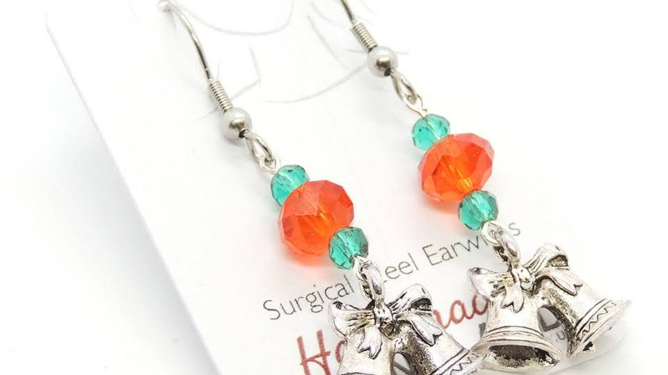 Christmas Earrings Surgical Steel Ear Wires