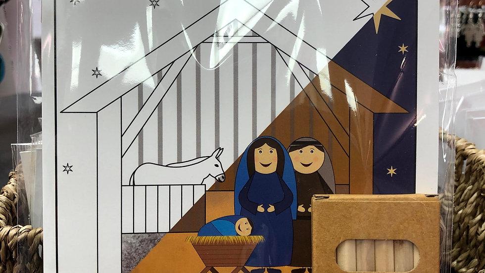 Nativity Colouring Book
