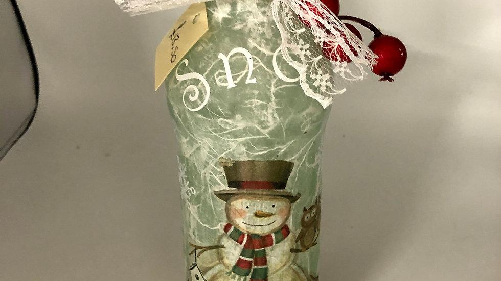 Decorative Snowman Bottle