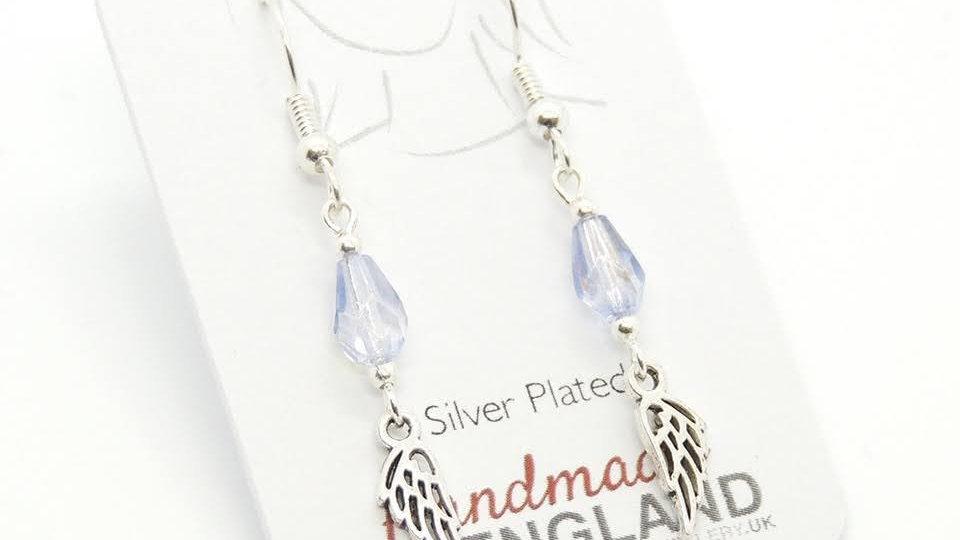 Silver Plate Angel Earrings