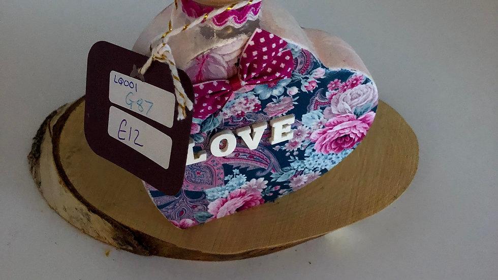 Love Heart Decoupage Bottle