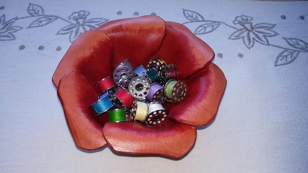 Leather Blessing Bowl Poppy