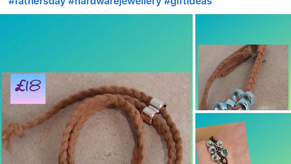 Men's Hardware/Hexnut Jewellery Bracelet